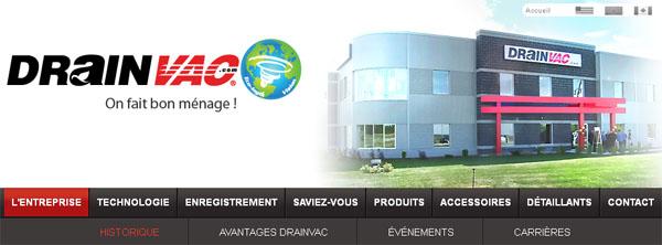 Balayeuse Aspirateur Drainvac Canada Site En Ligne