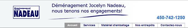 Déménagement Jocelyn Nadeau En Ligne