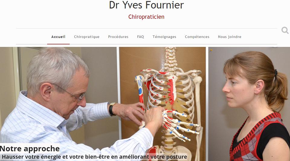 Dr. Yves Fournier Chiropraticien En Ligne