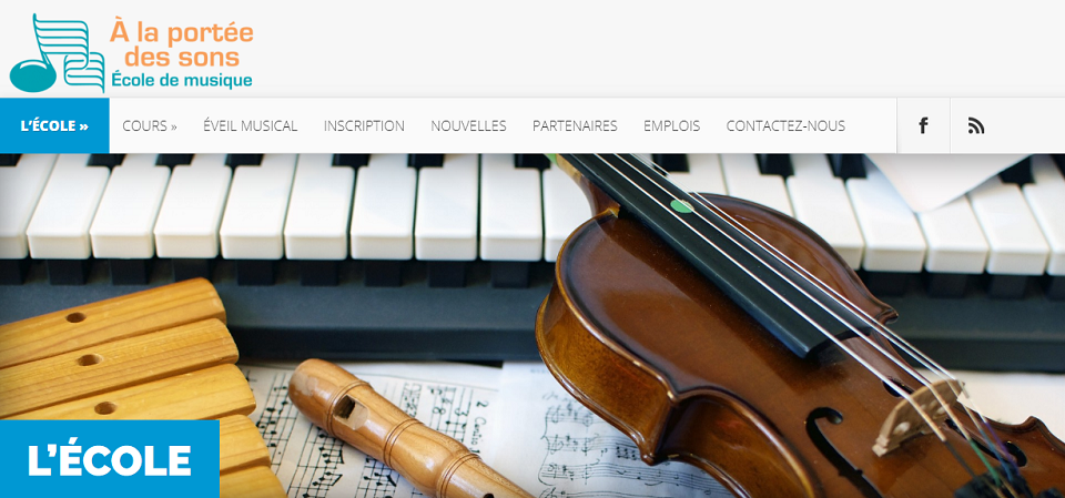 école De Musique à La Portée Des Sons En Ligne