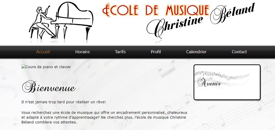 école De Musique Christine Béland En Ligne