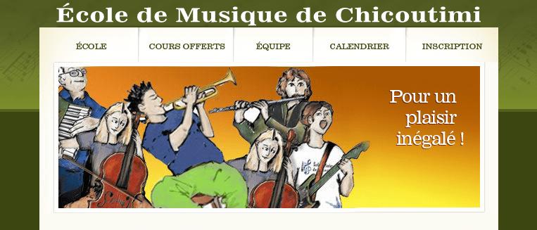 école De Musique De Chicoutimi En Ligne