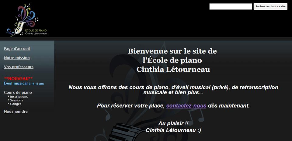 école De Piano Cinthia Létourneau En Ligne