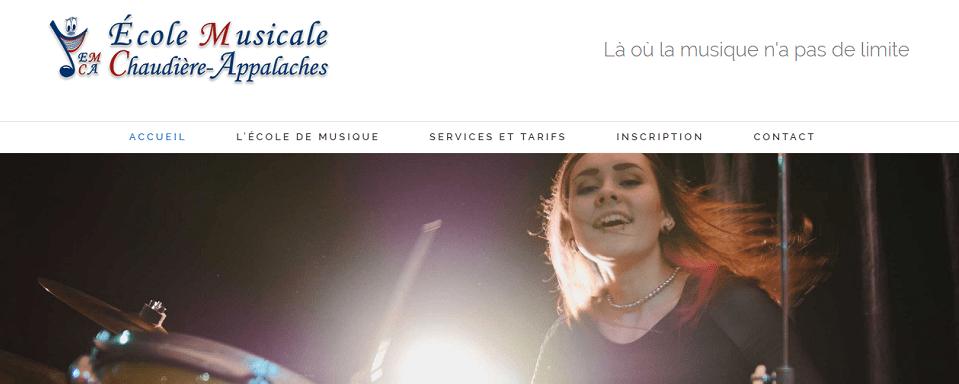 école Musicale Chaudière Appalaches En Ligne