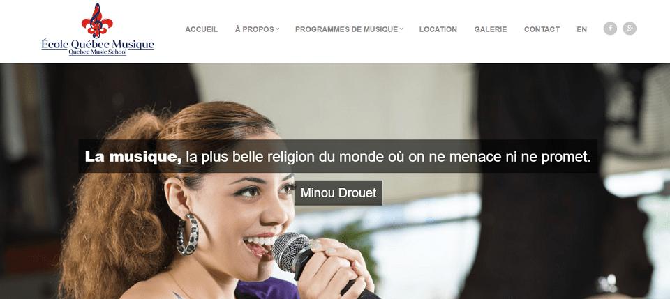 école Québec Musique En Ligne