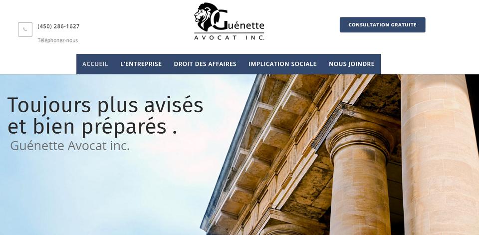 Guénette Avocat Inc. En Ligne