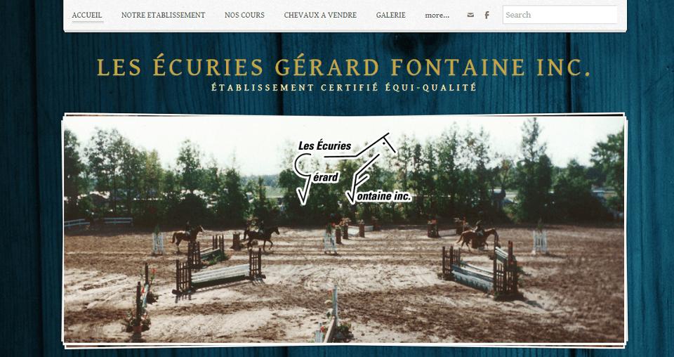 Les écuries Gérard Fontaine En Ligne