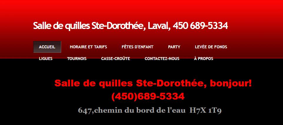 Salle De Quilles Ste Dorothée En Ligne