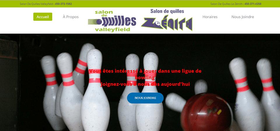 Salon De Quilles Zénith En Ligne