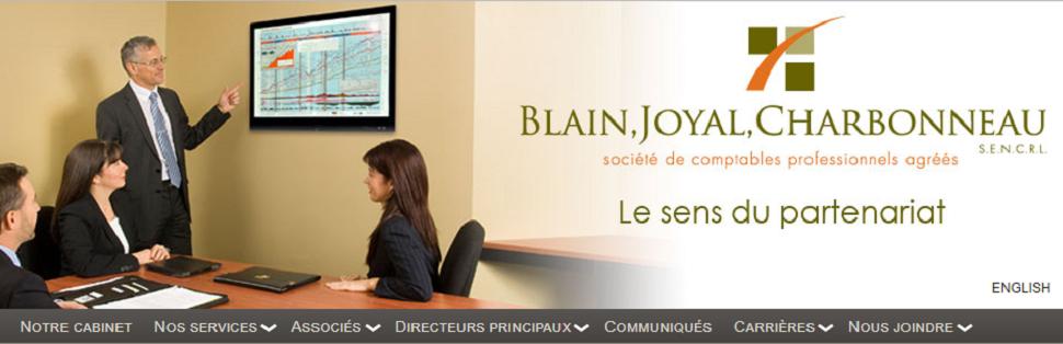 Société Comptables Professionnels Agréé Blain, Joyal, Charbonneau En Ligne