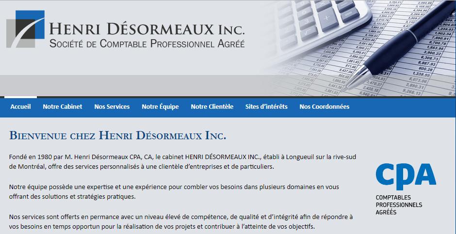 Société De Comptable Professionnel Agréé Henri Désormeaux Inc. En Ligne
